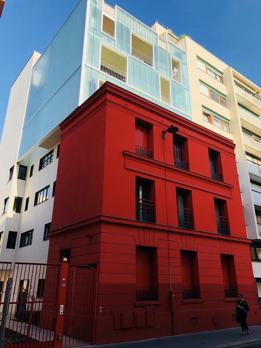 Immeuble rouge Paris 2018