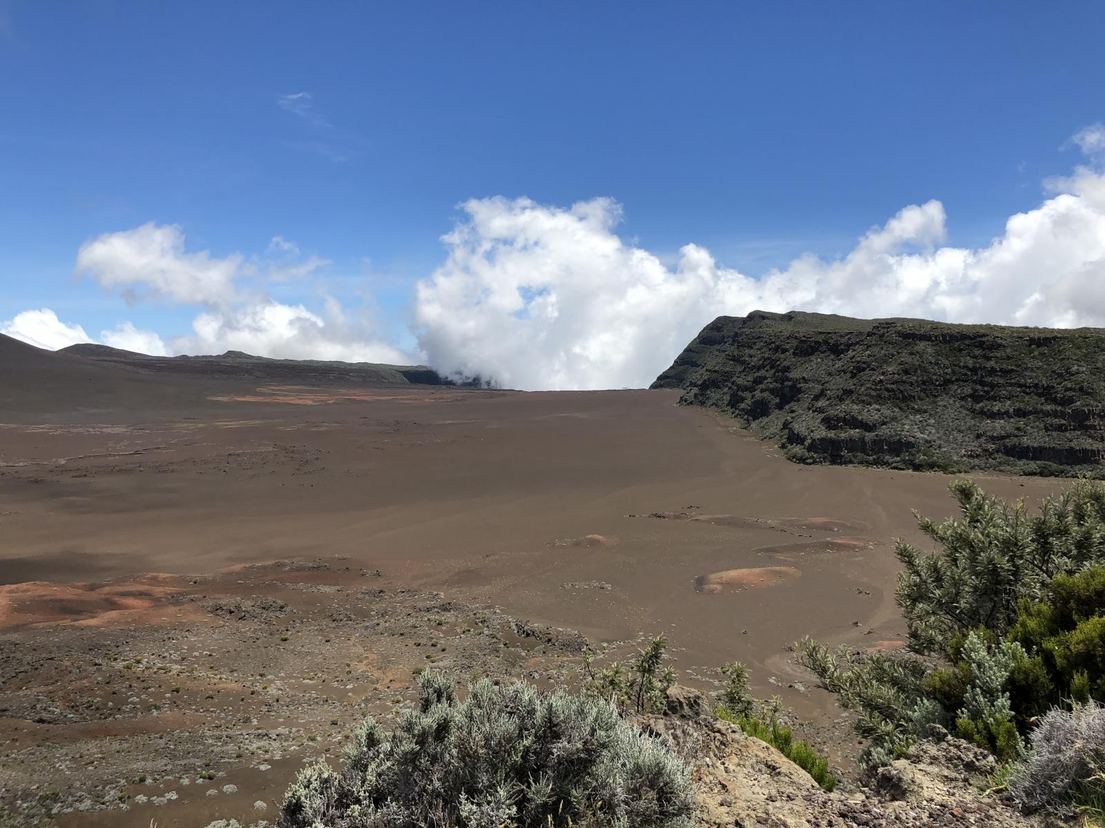 Île de la Réunion sur mars