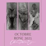 montage photos en noirs et blanc pour octobre rose 2021 par céline pivoine eyes 3 photos